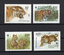 WWF Russia Wild Animals Tiger set clean MNH block of 4