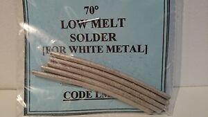 Low Melt 70 Deg. Solder for White Metal - 25gms Pack