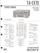 Sony Original Service Manual per ta-ex 70