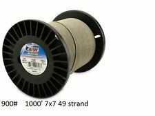 American Fishing Wire 7x7 49-Strand Stainless Leader  900 lb shark wahoo 1000'