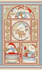 Henry Glass Cookies & Cocoa FLANNEL by Shelly Comiskey F6264P 11 Panel