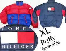 Tommy Hilfiger vintage PUFFY XL reversible jacket snow flag winter down spellout