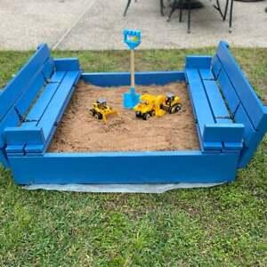 """Sandbox plan with benches/Sandbox with Cover/ DIY sandbox plan 48"""" × 48"""" step 📥"""