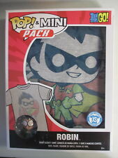 Funko POP! Tees Mini Pack Teen Titans Go! Robin Figure & T Shirt X-Small XS