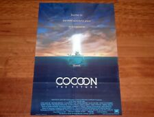 ORIGINAL MOVIE POSTER COCOON THE RETURN 1988 INTERNATIONAL FOLDED ONE SHEET