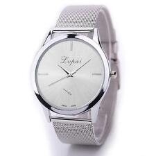 US Fashion Women Men Stainless Steel Watches Analog Quartz Bracelet Wrist Watch