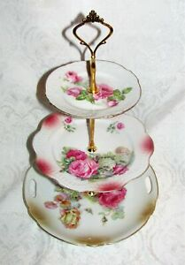 Custom Three Tier Cake Stand Made With Antique Plates