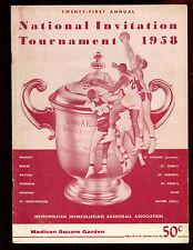 1958 NCAA Basketball NIT Championship Game Program Xavier vs Dayton EX