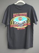 Harley Davidson Men Medium Black T-shirt SLC Utah Life Begins When You Get One