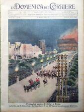 La Domenica del Corriere 15 Maggio 1938 Visita Hitler in Italia Mussolini Napoli