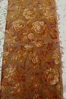 "Antique c1890-1915 French Cotton Floral Jacquard Tapestry Fabric Sample~28""X12.5"