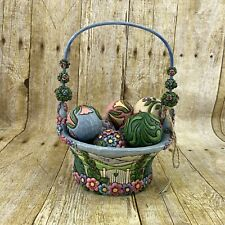 Jim Shore Blossoms Of Spring 4009235 Heartwood Creek 2007 Basket X Eggs