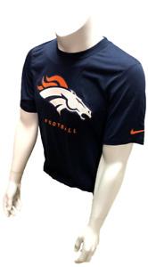 Nike Dri Fit Men's Denver Broncos Navy Short Sleeve Shirt NFL T-Shirt
