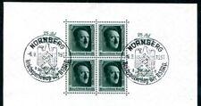 DR 1937 BLOCK11 SST NÜRNBERG REICHSPARTEITAG 60€(F3369