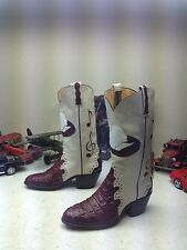 SWAN MELODY NOTE USA CUSTOM LEATHER WESTERN COWBOY RODEO DRIVE DANCE BOOTS 6 D