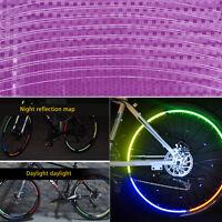 8PCS,Rim Stickers Reflective Tape 8mm Motorcycle Motorbike Safety Fluorescent