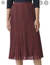 Whistles 'Regina' Sparkle Pleated Skirt - Size 8. Worn Once Only.