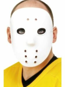 Hockey Blanc Masque Halloween Adulte Unisexe Smiffys Accessoire Déguisement
