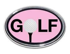 "Golf Ball ""O"" Pink and Chrome Car Truck Emblem Quality Made in the USA *NEW*"