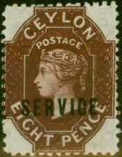 Ceylon 1869 8d Chocolate SG03 Fine Mtd Mint