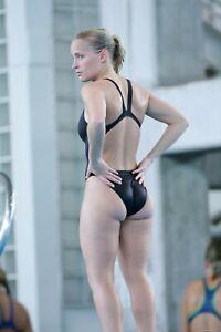 "Speedo Black Aquablade Swimsuit UK/US 30"" High Leg Badeanzug D34 Racer Back"