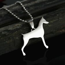 Cropped Ear Doberman Dobie Dobermann Pinscher Dog Pet Charm Pendant Necklace Tag