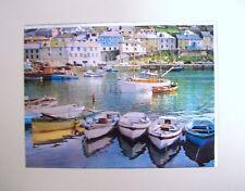 "Mediterranean Harbor Scene Lenticular  3-D Poster Print 6""x8"""