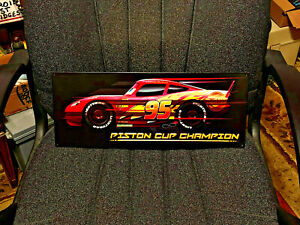 "Disney™ CARS Piston Cup Champion Lightning Mcqueen Embossed 18"" x 7"" Metal Sign"
