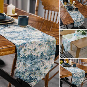 Vintage Print Tablecloth Table Runner Placemat Party Cotton Kitchen Coffee Decor