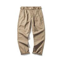 British Army Gurkha Pants 9oz Khaki Pants Men's Chino Military Casual Trousers
