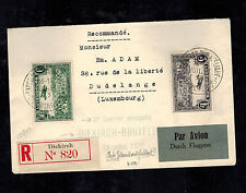 1933 Diekirch Luxembourg Airmail Cover to Belgium Philatelic Exposition
