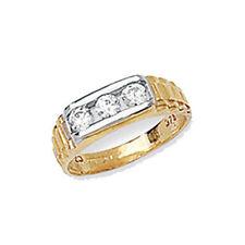 Anelli di lusso con gemme sconosciuti oro gialli 9 carati