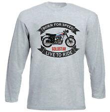 BSA Goldstar DBD Camiseta de manga larga 34-Gris-todos Los Tamaños En Stock