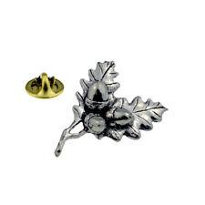Acorn Oak Leaves Pewter Lapel Pin Badge XTSPBC24