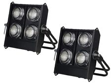 2 x Showtec Stage Blinder 4 DMX 650W Crowd Lighting Effect Package