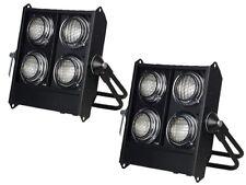 2 x Showtec Stage BLINDER 4 Dmx multitud 650 W Paquete de efecto de iluminación