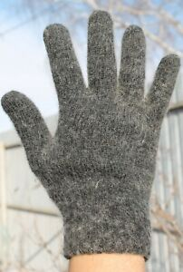 Men's GLOVES 100% SHEEP WOOL HOME KNITTED warm Russian  #dymov2014
