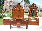 Fantastic Walnut Victorian Bedroom Set~~Full Bed~Dresser~Washstand