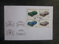 2013 LIECHTENSTEIN SPORTS & TOURING CARS SET 4 STAMPS FDC FIRST DAY COVER