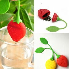 Big New Loose Type Silicone Herbal Tea Leaf Strawberry Filter Strainer Infuser