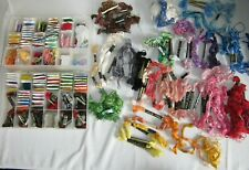 Vtg Lot Pre-Barcode & Later Embroidery Thread Floss Skeins Lily Anchor Dmc