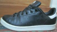 UNISEX ADIDAS STAN SMITH 2 TRAINERS  uk 5.5 us 6 e 38.7  black leather shoes