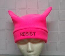 Unisex HATS - Pink Pussy HAT - Political Protest - Fleece, RESIST (Fascism) HATS