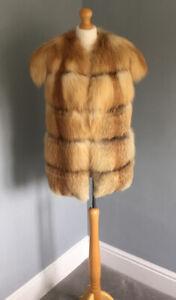 Real Fox Fur Gilet Size M/L