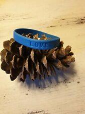 Blue  Rubber wristband LOVE