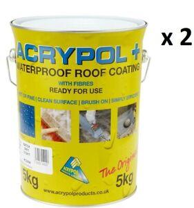 Acrypol + Plus Grey Coating Waterproof Roof Repair Coating 5Kgx 2