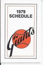 1979 SAN FRANCISCO GIANTS POCKET SCHEDULE