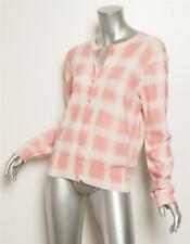 MARC BY MARC JACOBS Pink Ivory Ombre Plaid Button Cardigan Sweater L NEW $258