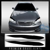 For 2003-2008 Toyota Corolla Headlight Eyelid Set Trim Overlay Decals - Matte