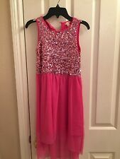 New w/o Tags Girl's Gold Pink Sequin Dress Nordstrom Ruby & Bloom Brand Size 10